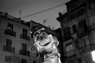 "Falla One of the huge effigies errected at every plaza and crossroads in Valencia during the ""Las Fallas"" festival."
