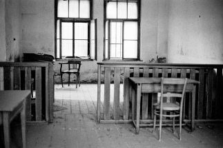 Theresienstadt Sergeant-of-the-Guard's office in the military prison used by the Gestapo during the Nazi era to hold political prisoners. Small Fortress, Terezin, Czech Republic. November 2003.