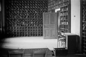 Theresienstadt Administration office in the military prison used by the Gestapo during the Nazi era to hold political prisoners. Small Fortress, Terezin, Czech Republic. November 2003.