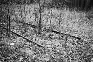 Theresienstadt Railway siding built by slave labour during Nazi era to accelerate the 'processing' of transports to the ghetto.