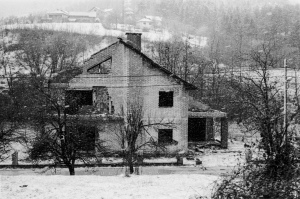 """""""Cleansed"""" A house destroyed in the """"Ethnic Cleansing"""" campaign during the war of 1992-96."""