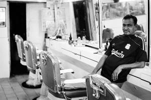 Ooty A barber in Ooty
